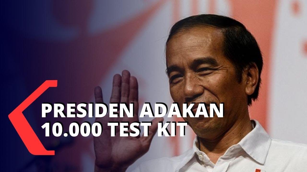 Presiden Jokowi Segera Adakan 10.000 Test Kit Untu