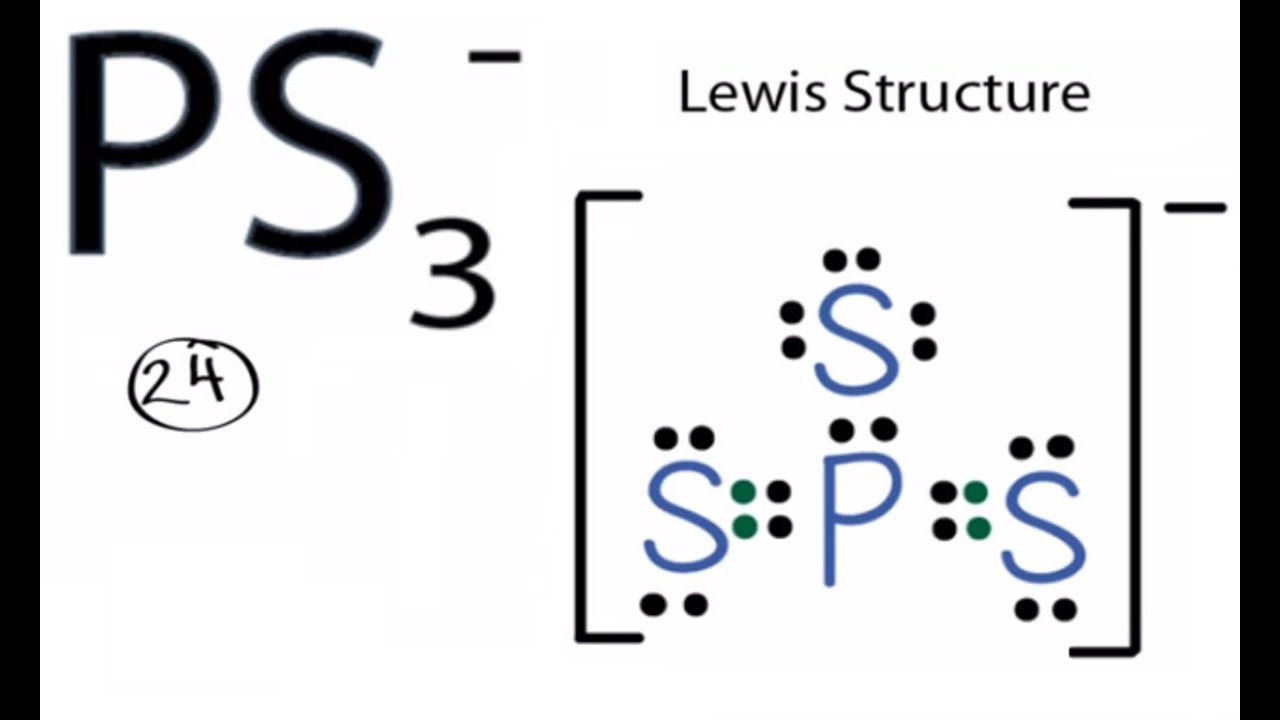 Ps3 Lewis Structure How To Draw The Lewis Structure For
