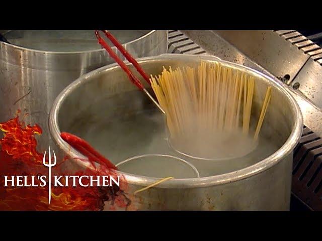 Gordon Ramsay Complains Water Isn't Seasoned | Hell's Kitchen