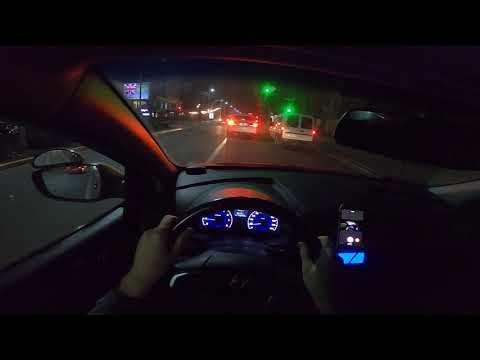 Вождение ночью от первого лица