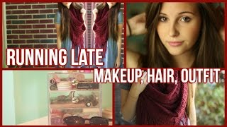 Running Late Morning Routine! Hair, Makeup, Outfit & Time Saving Tips!