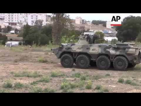 Russia military test new equipment in Crimea