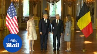 Donald and Melania meet Belgian Royal couple in Brussels - Daily Mail