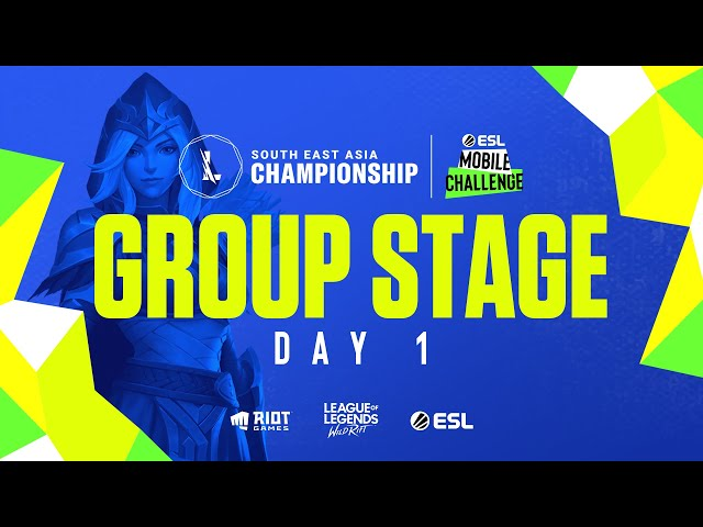 ESL Mobile Challenge presents Wild Rift SEA Championship 2021: Group Stage Day 1