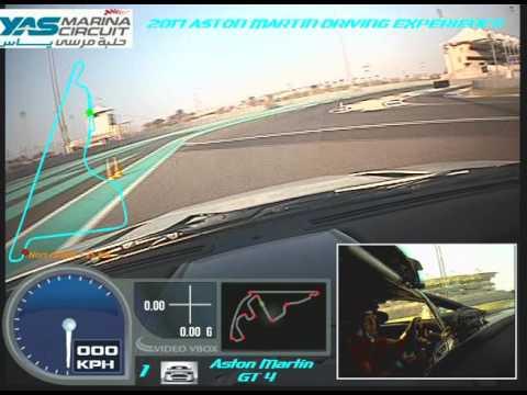 2017 Yas Marina Circuit, Abu Dhabi, UAE - Aston Martin GT4 Race Car Run2
