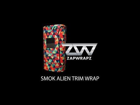 Smok Alien wrap application 99.9% coverage with new trim wraps!
