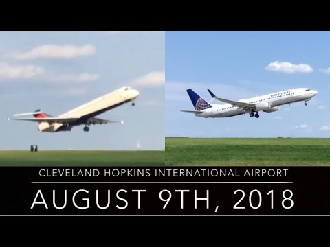 (RARE! Close Departures!) Cleveland Hopkins Plane Spotting 2018 (Pt. 11)