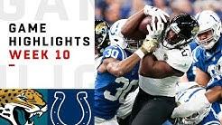 Jaguars vs. Colts Week 10 Highlights | NFL 2018