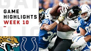 Jaguars vs. Colts Week 10 Highlights | NFL 2018