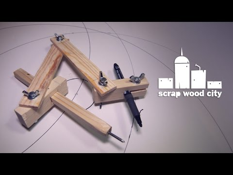 Draw Perfect Circles of Any Size With Your Own DIY Wooden Compass