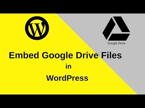 Add (Embed) Google Drive Files in WordPress Post