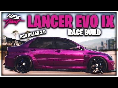 MITSUBISHI LANCER EVO IX RACE BUILD! | Need For Speed Heat! | RSR KILLER 2.0