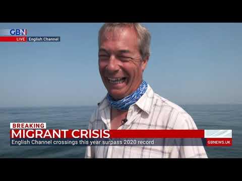 Nigel Farage spots migrant boat crossing English Channel
