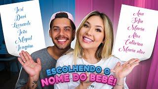 ESCOLHENDO O NOME DO NOSSO BEBÊ!!!