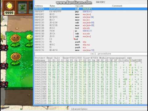 Plants Vs Zombies Cheat engine Sun hack / no delay