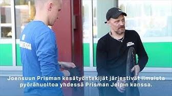 100 hyvää tekoa - Ilmaista pyörähuolto Joensuun Prismalla