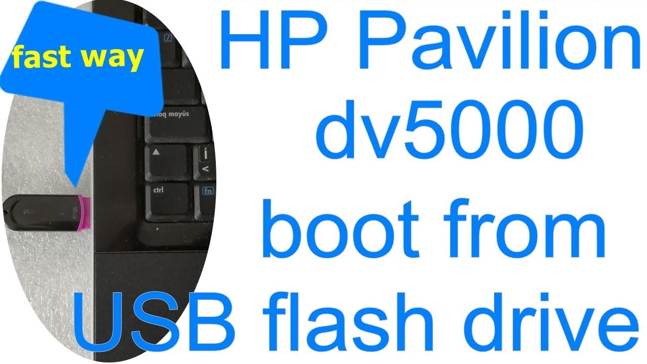 rd #237 How to boot from USB Flash Drive on HP Pavilion dv9500 laptop fast  way