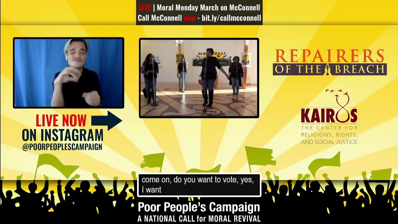 Moral Monday Digital March on McConnell led by GenNOW | Poor Peoples' Campaign