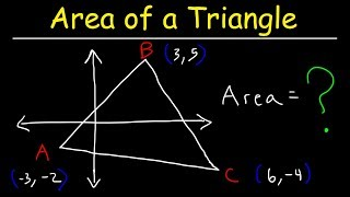 Area of a Triąngle With Vertices - Geometry
