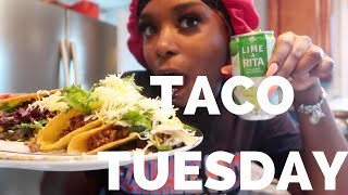 COOK WITH ME + MUKBANG : TACO TUESDAY