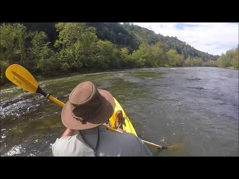 French Broad River Kayak Fishing For Smallmouth, Walleye, And Drum