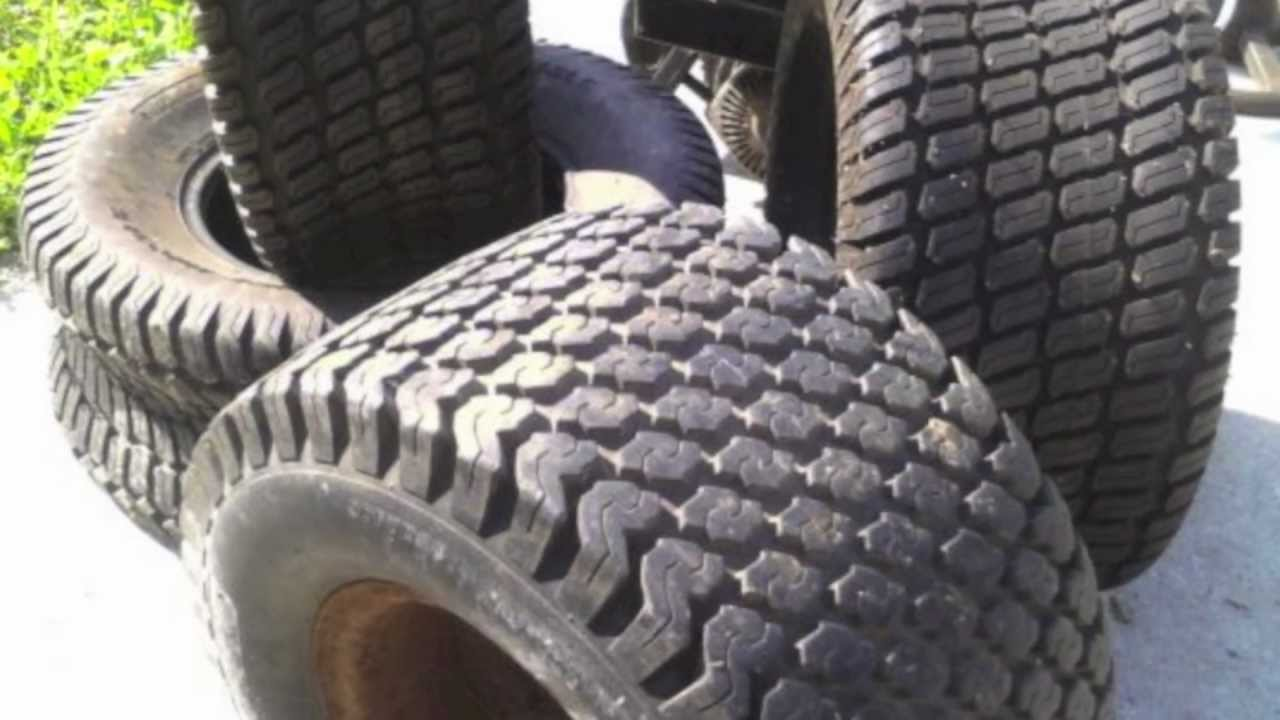 Lawn Tractor Tires & Wheels From 20x10x8 to 20x8x8 Tire ...