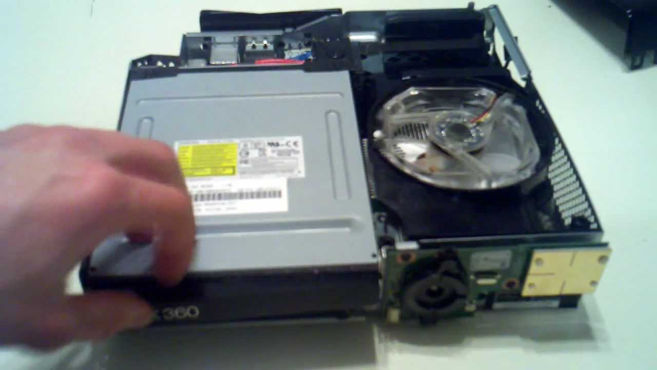 Xbox slim disassembly and fan mod