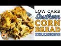 Low Carb CORNBREAD DRESSING - Southern Keto Chicken & Dressing - Lowcarb Thanksgiving Stuffing