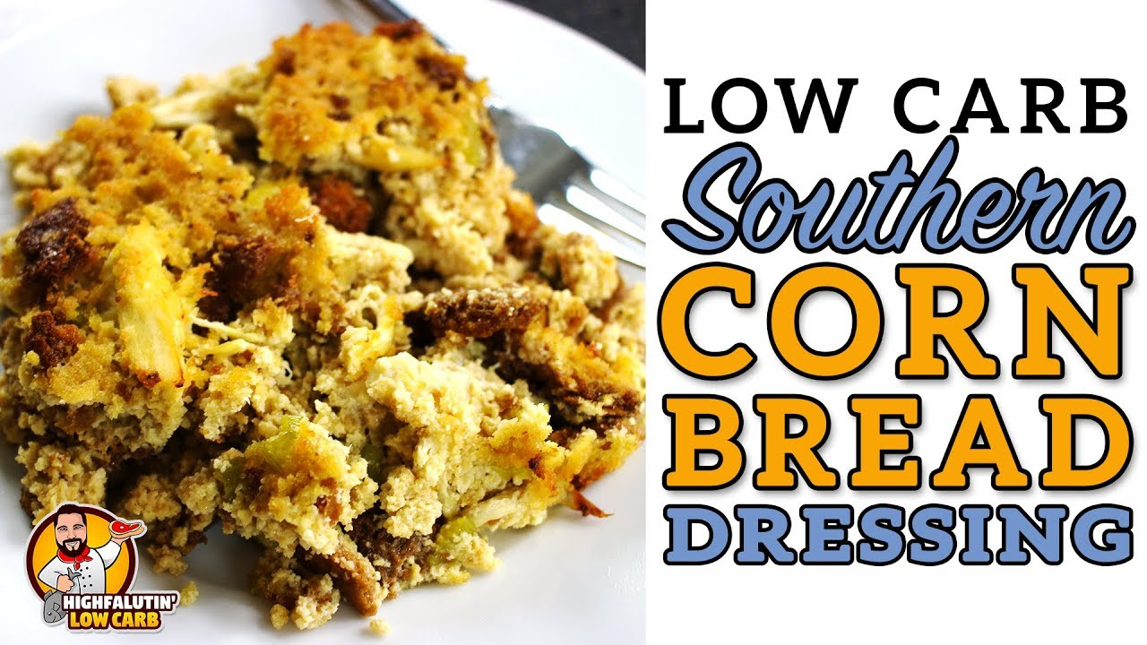 Low carb cornbread dressing southern keto chicken for Southern living login