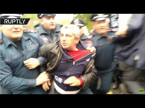 RAW: Armenian protesters detained at rallies against appointment of former President as PM