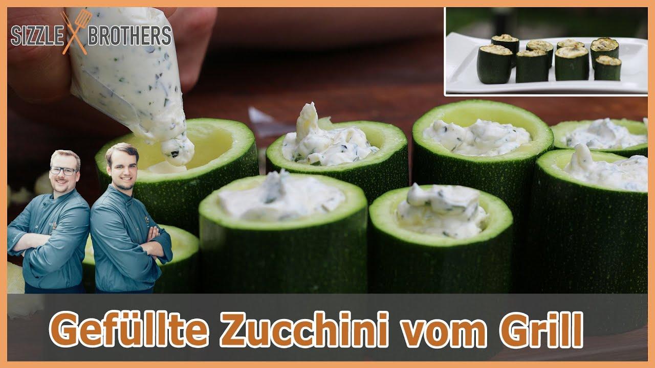 Rezepte Für Gasgrill Vegetarisch : Gefüllte zucchini vegetarisch grillen fingerfood vom grill