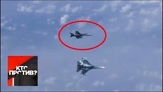 """""""Кто против?"""": Российские Су-27 оттеснили истребитель НАТО от самолета Шойгу. От 13.08.19"""