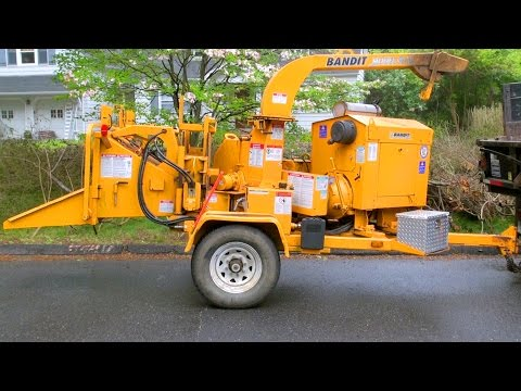 Wood Chipper in Action Bandit Model 90XL