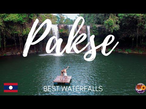BEST WATERFALLS PAKSE -  LAOS TRAVEL