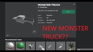 Roblox Mad City Leaks | New Monster Truck??