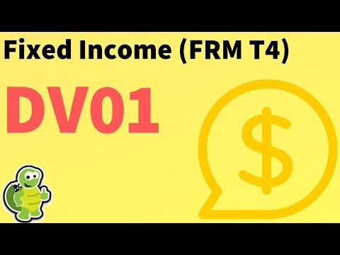 Fixed Income: Bond DV01 (aka, Price Value Of Basis Point, FRM T4-32)