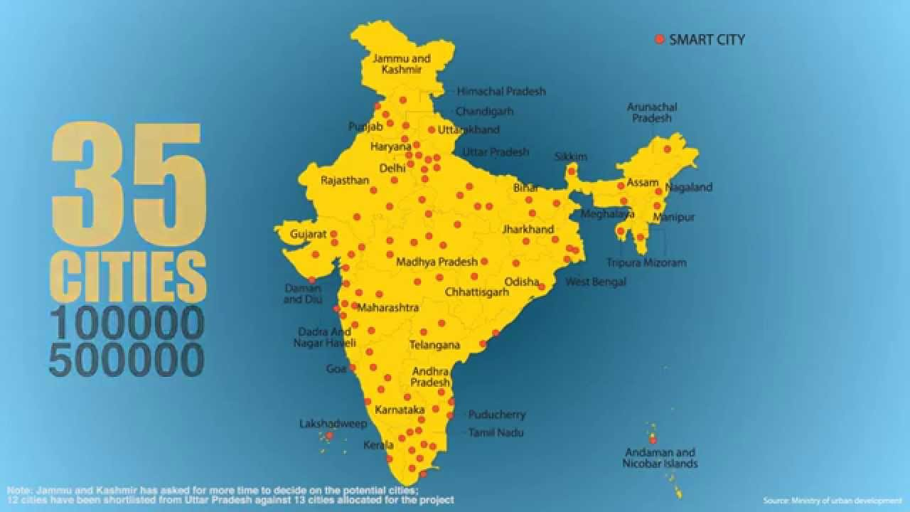 A look at 98 cities nominated for smart cities mission youtube a look at 98 cities nominated for smart cities mission gumiabroncs Gallery