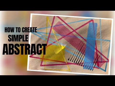 [How To] Easy Abstract Painting Ideas Step by Step for Beginners – Acrylic Painting | 24