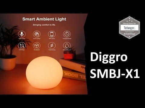 Diggro SMBJ-X1 : Smart Ambient Light, La Lampe D'ambiance Ou Lampe De Chevet Par Diggro