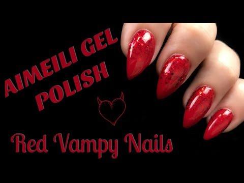 AIMEILI GEL POLISH | RED VAMPY NAILS