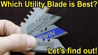 Which Utility Knife Blade Is Best? Let's find out! DeWalt, Irwin, Stanley, Husky, Kobalt, Lenox