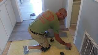 Day 1... Easy install of Lifeproof flooring... Great product to install