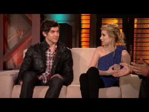 Lopez Tonight Emma Roberts and Carter Jenkins 2102010
