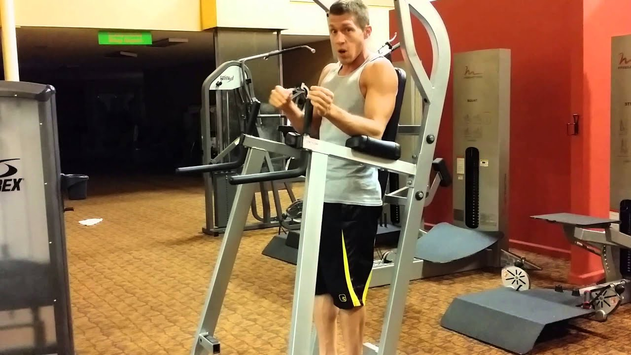How to do captain's chair leg raises - Andy Frisch - YouTube
