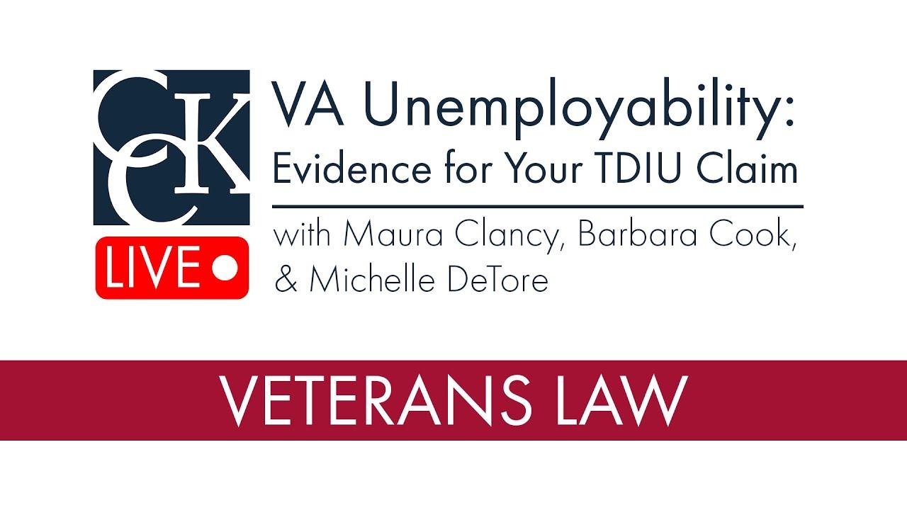 Va Unemployability Evidence For Your Tdiu Claim Youtube