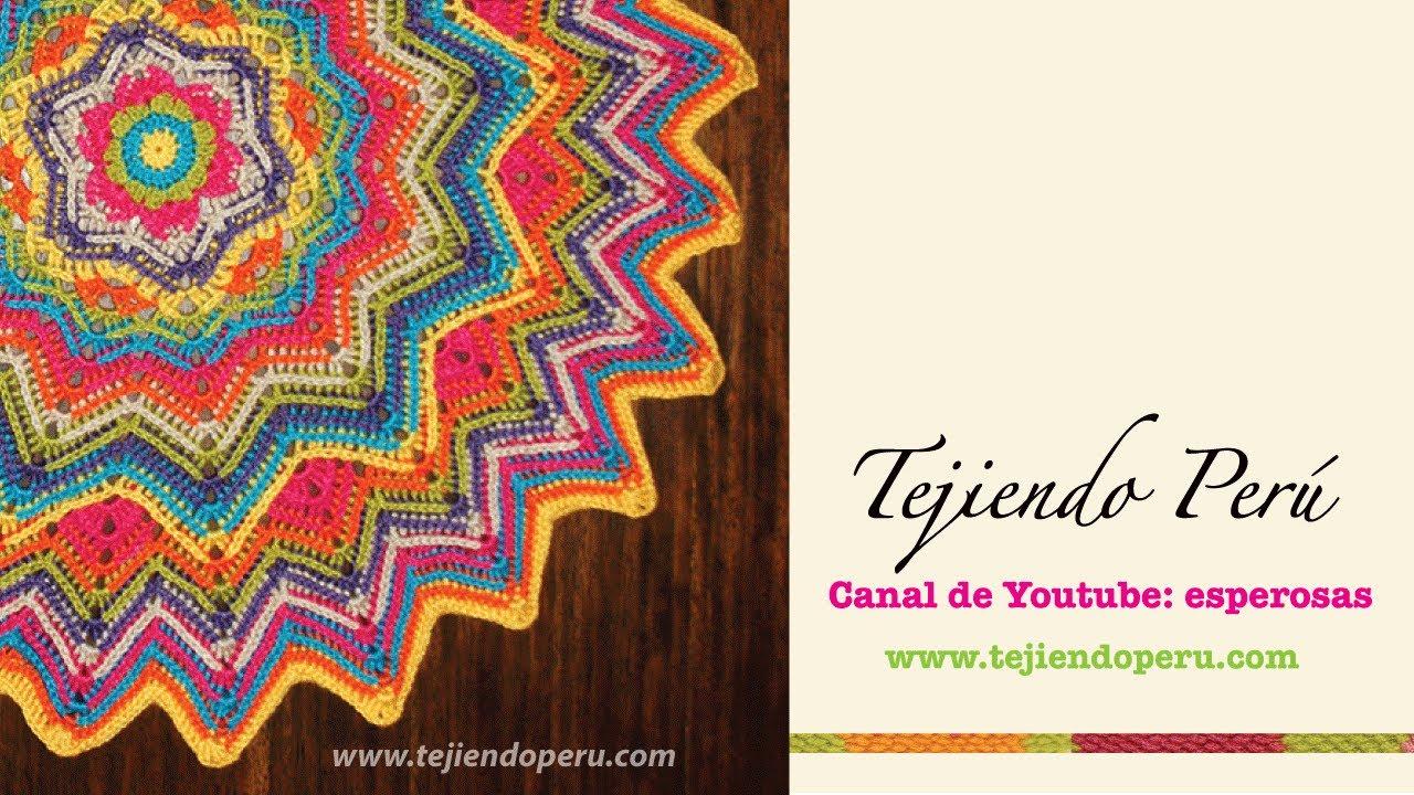 Cobija ondulada redonda tejida a crochet: Parte 1 (crochet round ...