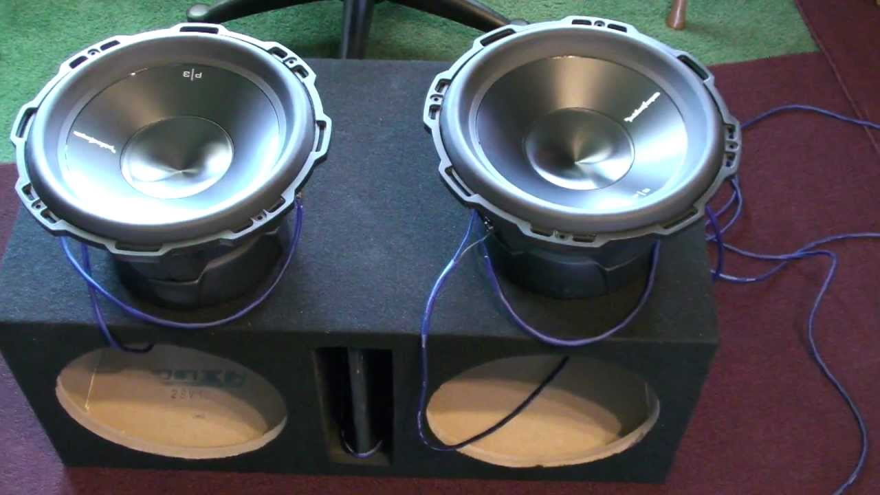 How to wire subwoofers to 1ohm - YouTube  Ohm Speaker Wiring Diagram Rockford Sub on
