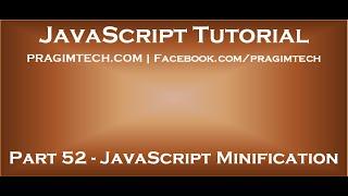 JavaScript Minification