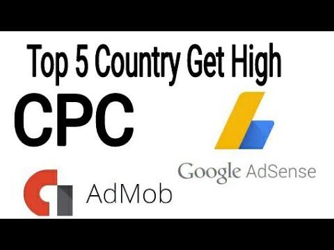 top 5 countries HIGH CPC Google adsense 2018