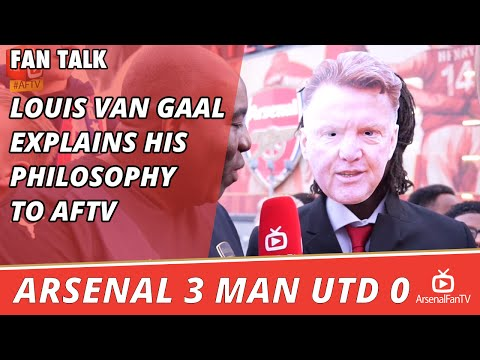 Louis Van Gaal Explains His Philosophy To ArsenalFanTV   | Arsenal 3 Man Utd 0